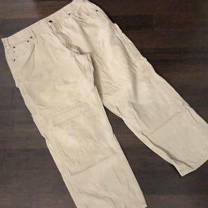 Carhartt carpenter tan jeans. Work condition